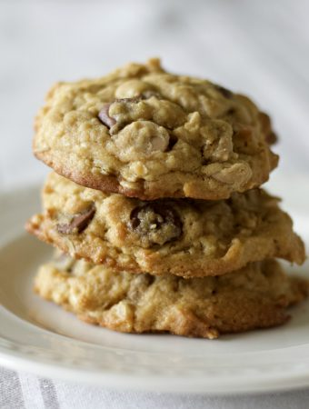 peanut butter oatmeal chocolate chip cookies sourdough discard cookies