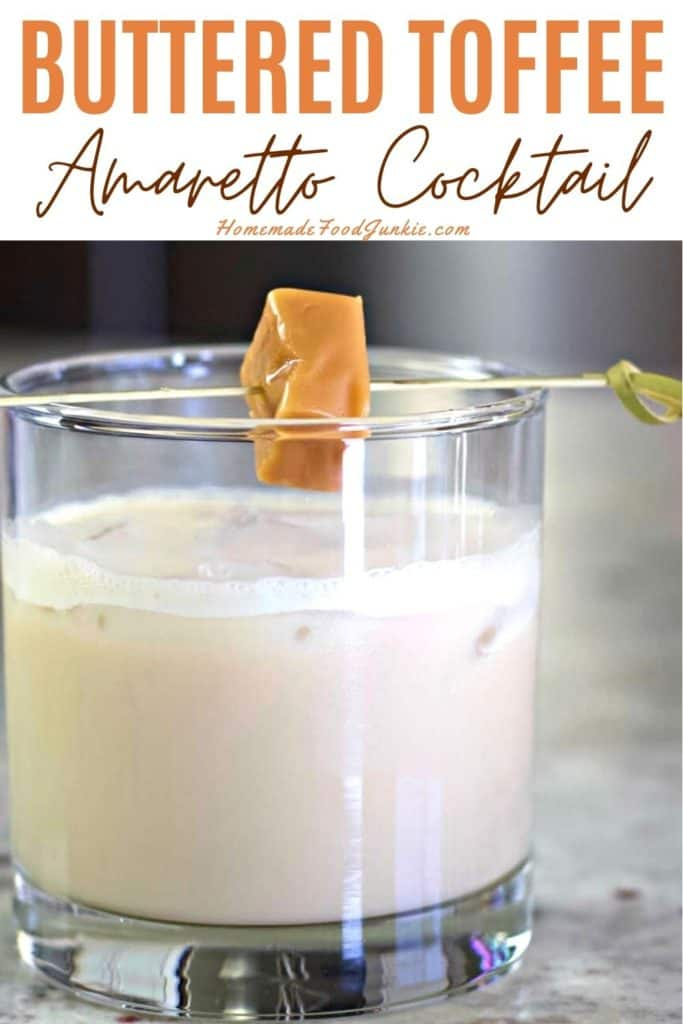 Buttered Toffee Amaretto Cocktail-pin image