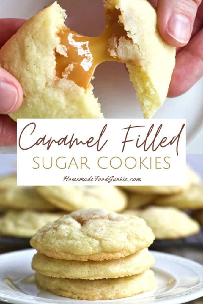 Caramel filled sugar cookies-pin image