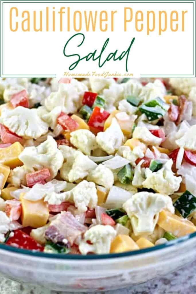 Cauliflower Pepper Salad-Pin Image