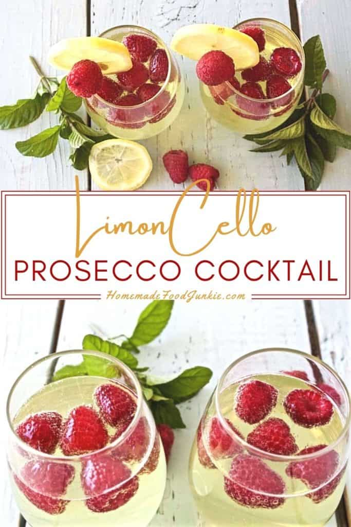 Limoncello prosecco cocktail-pin image