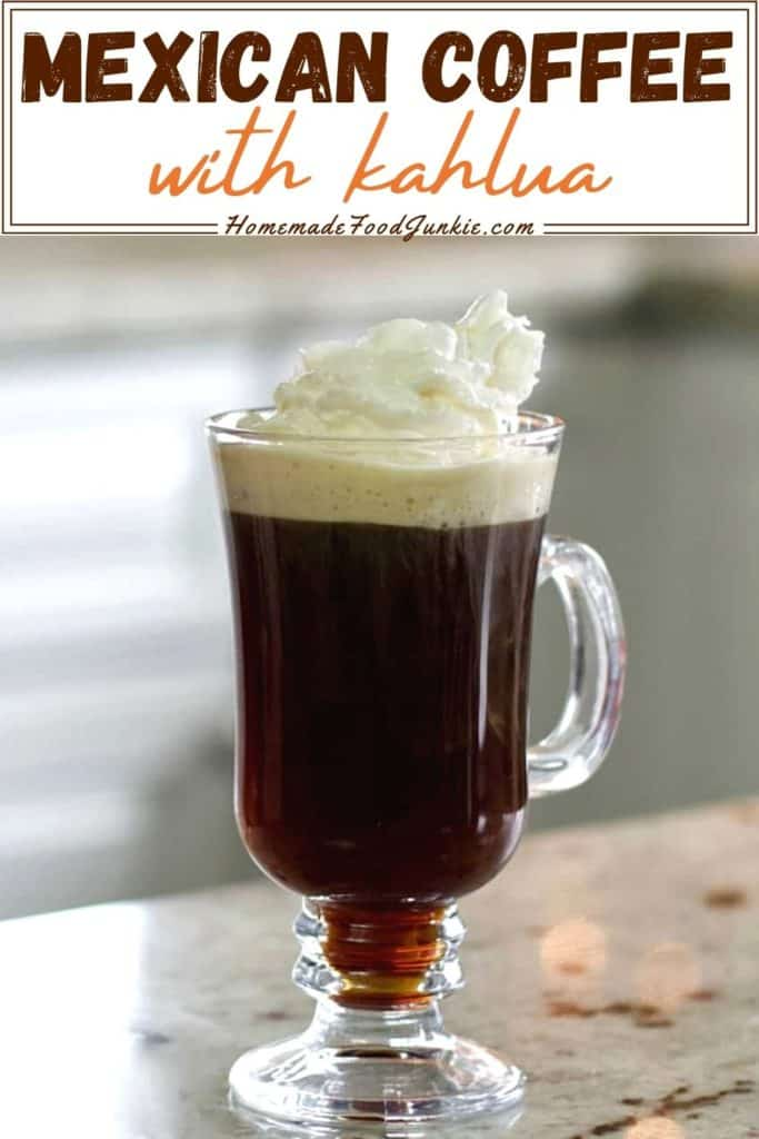 Mexican Coffee With Kahlua-Pin Image