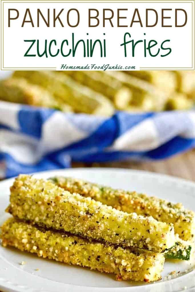 Panko breaded zucchini fries-pin image