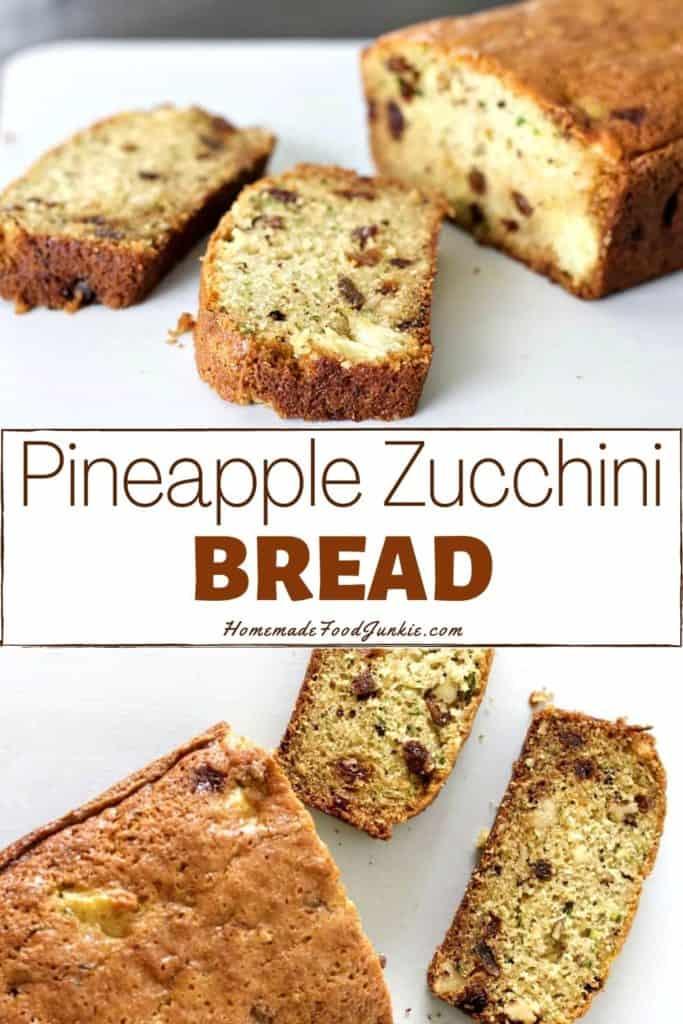 pineapple zucchini bread-pin image