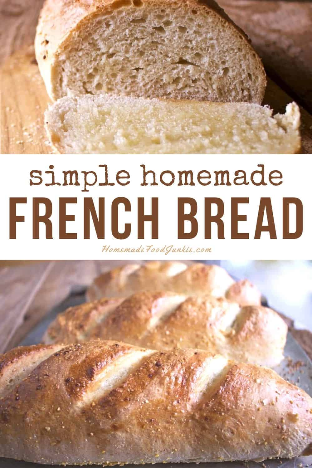 Simple Homemade French Bread-Pin Image