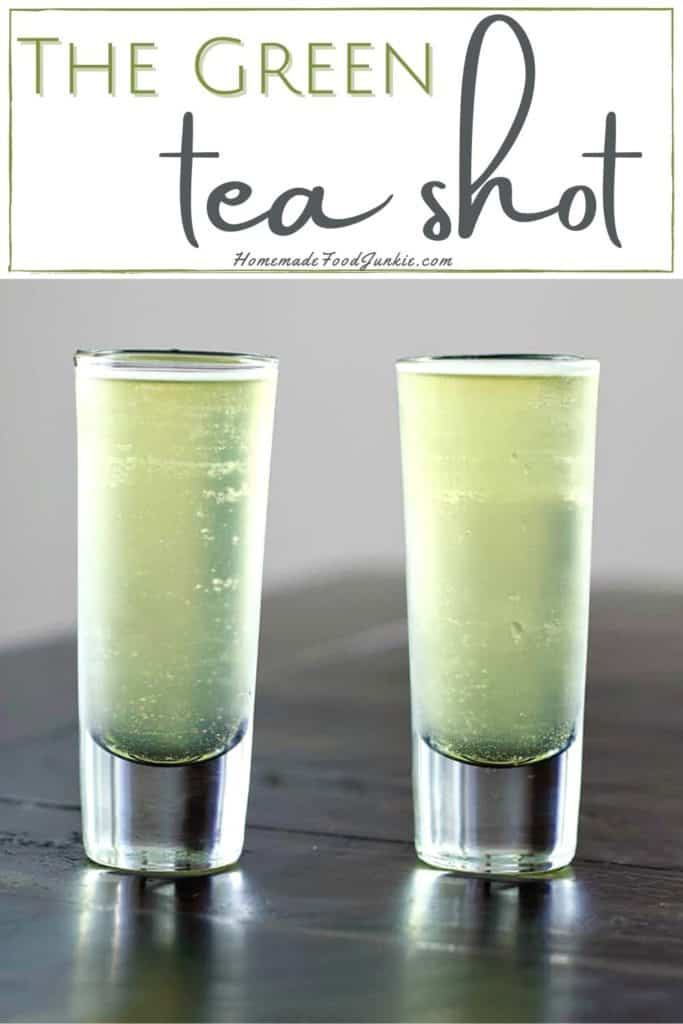 The green tea shot-pin image