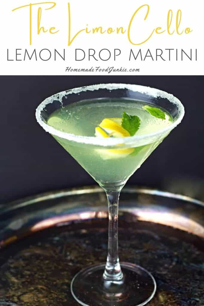 The limoncello lemon drop martini-pin image