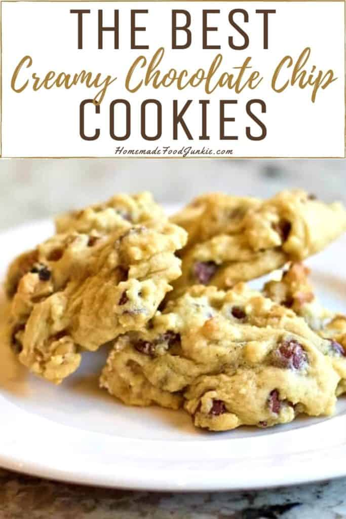 The best creamy chocolate chip cookies-pin image
