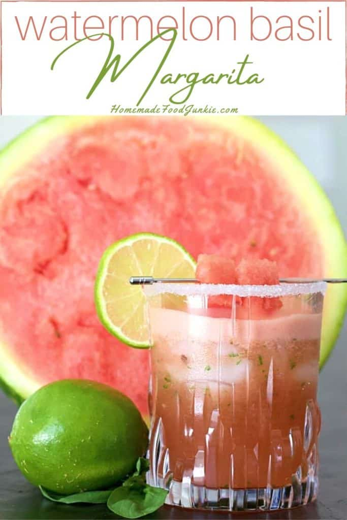 watermelon basil margarita-pin image
