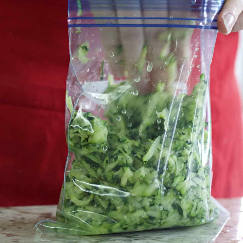 bagging zucchini