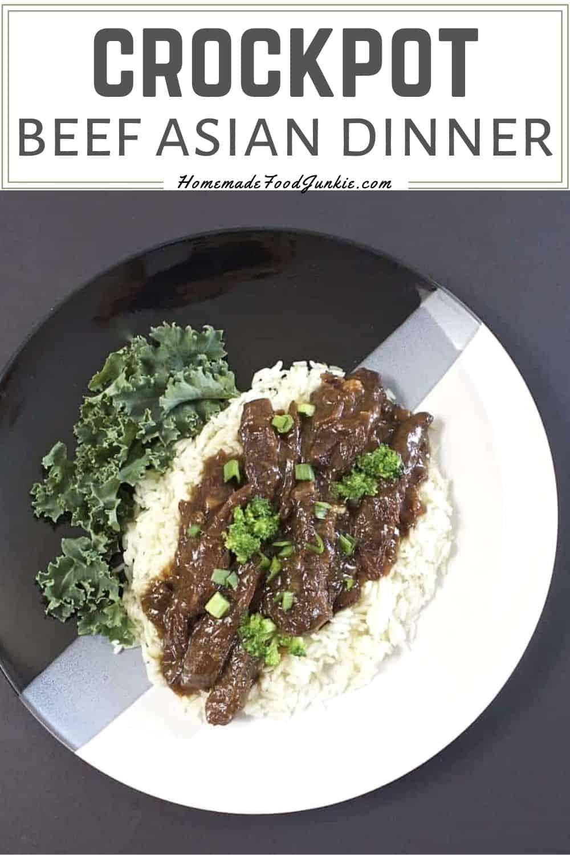Crockpot beef asian dinner-pin image