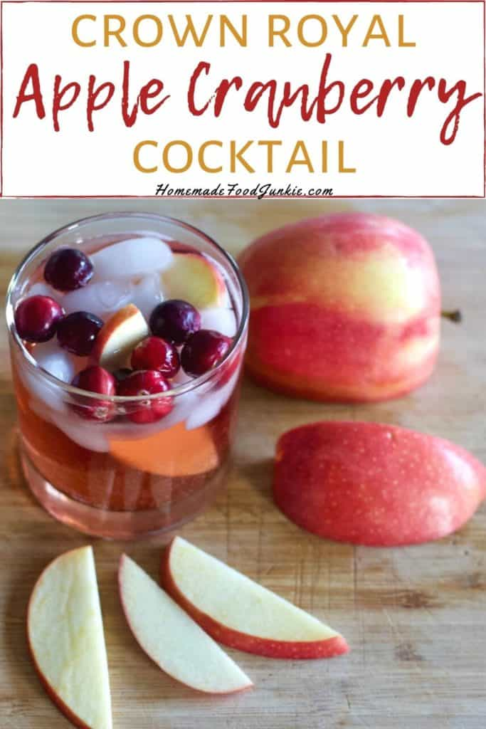 Crown royal apple cranberry cocktail-pin image
