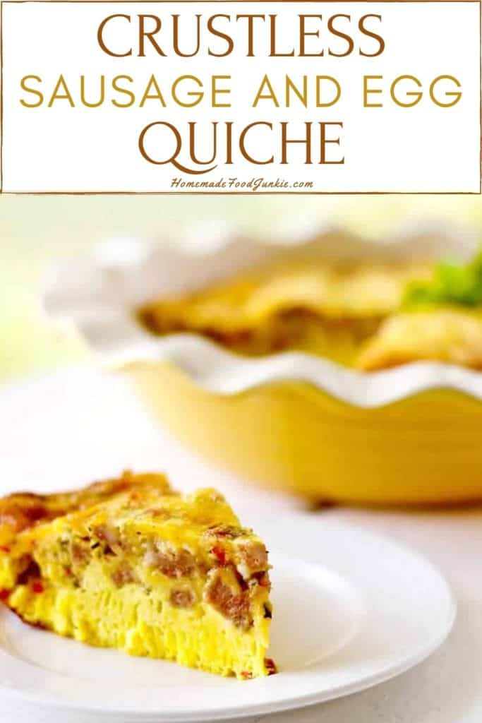 Crustless Sausage And Egg Quiche-Pin Image