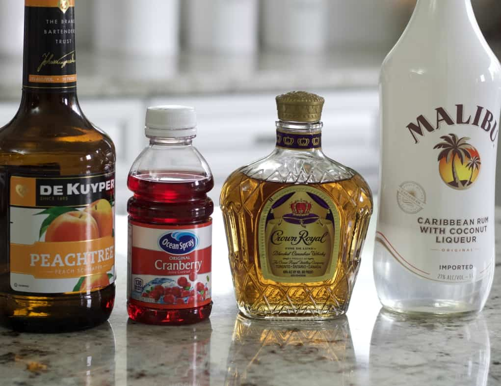 Ingredients For The Royal Flush Cocktail