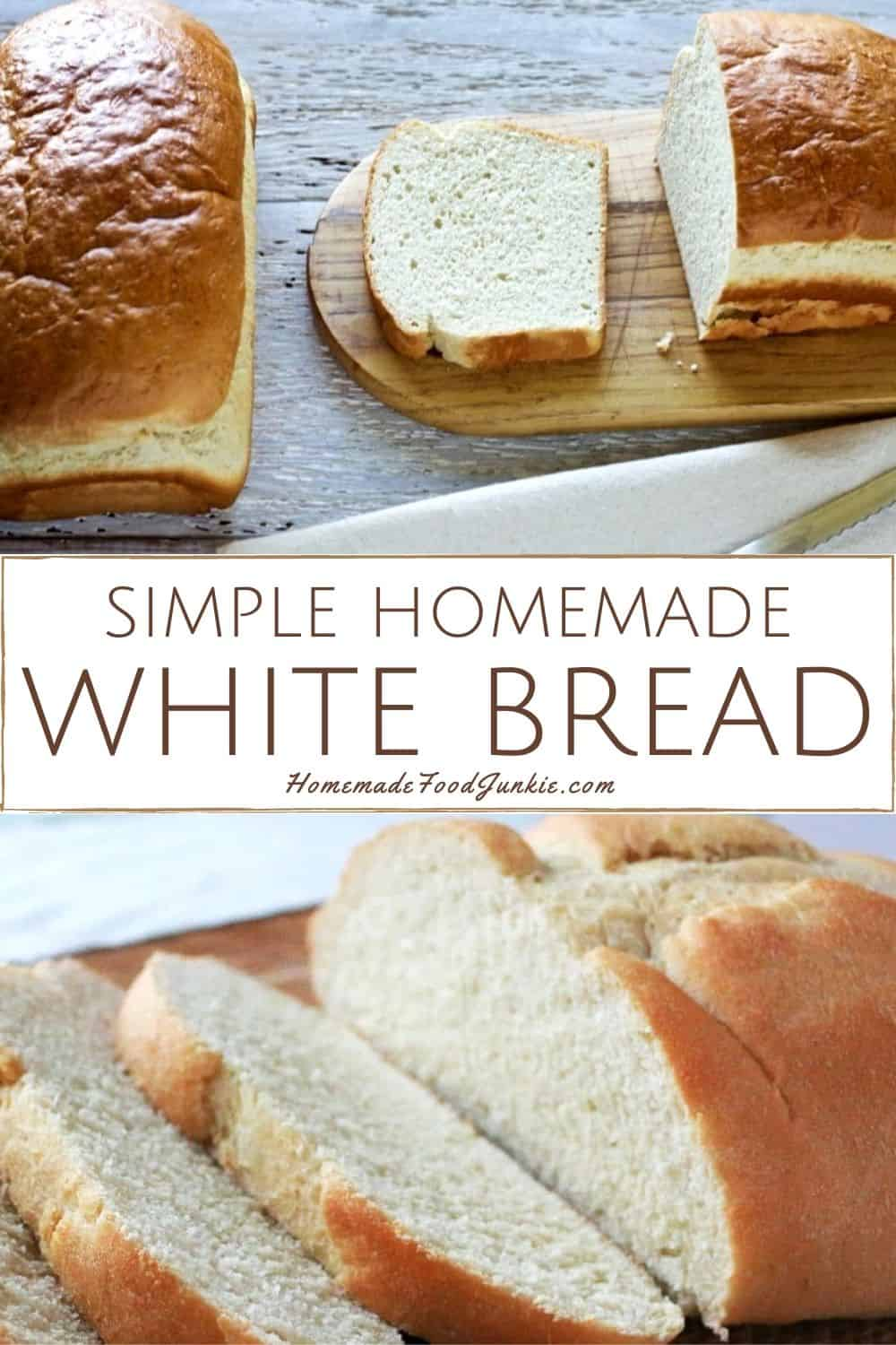 simple homemade white bread-pin image