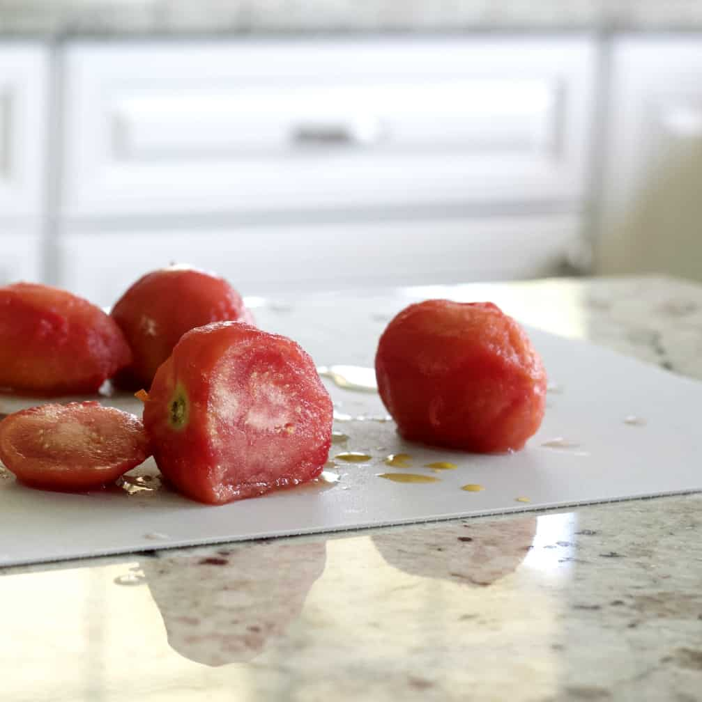 sliced frozen tomatoes