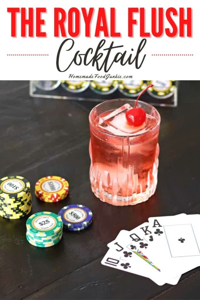 The royal flush cocktail-pin image