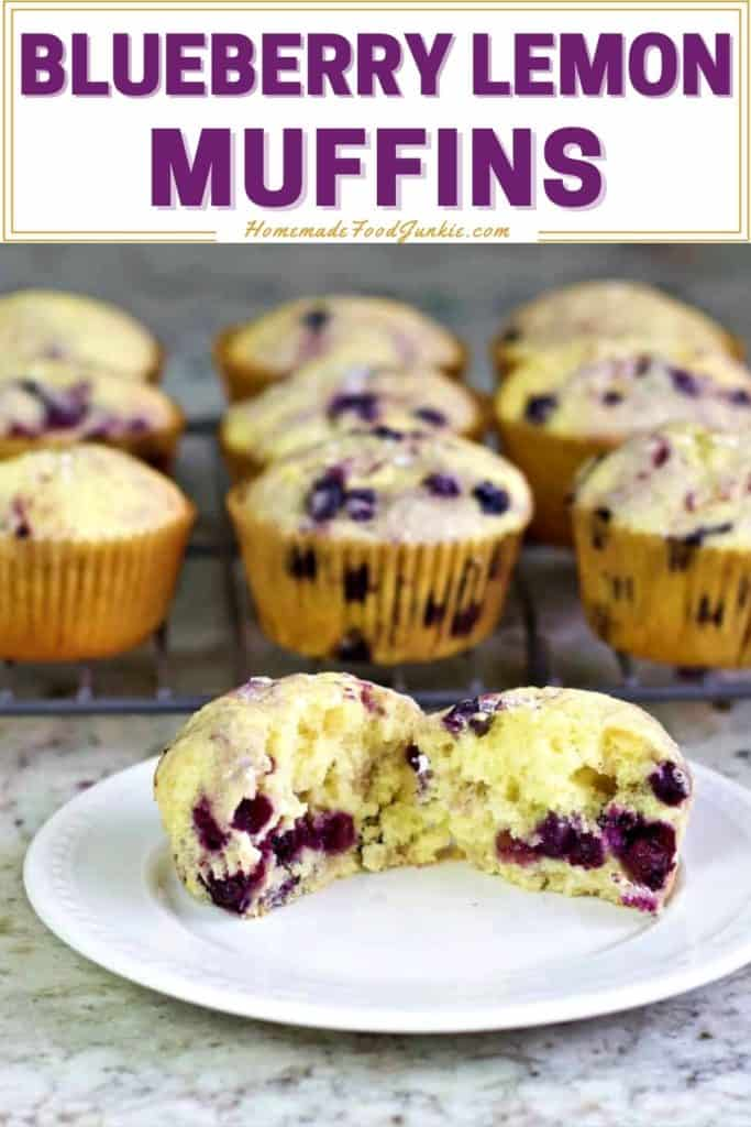 Blueberry lemon muffins-pin image