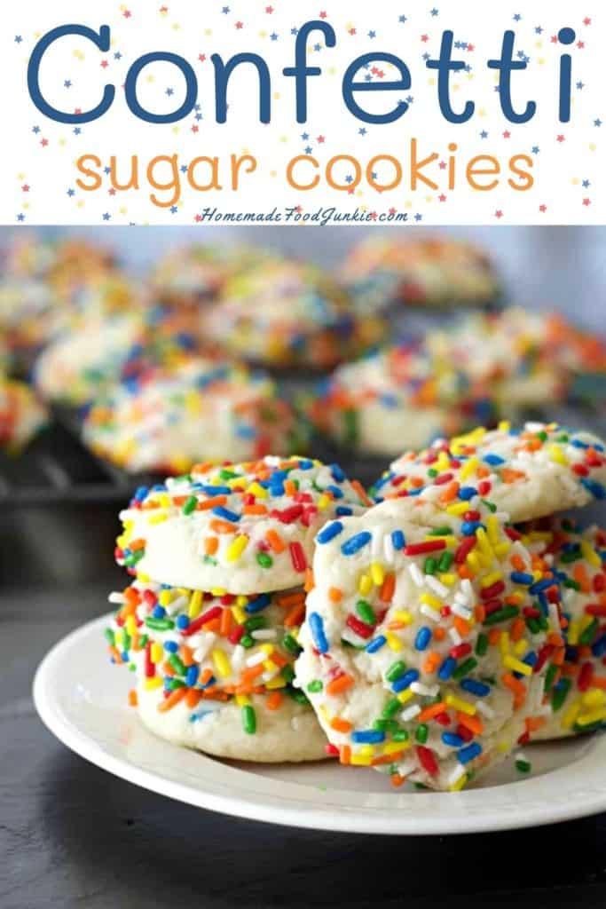 Confetti sugar cookies-pin image