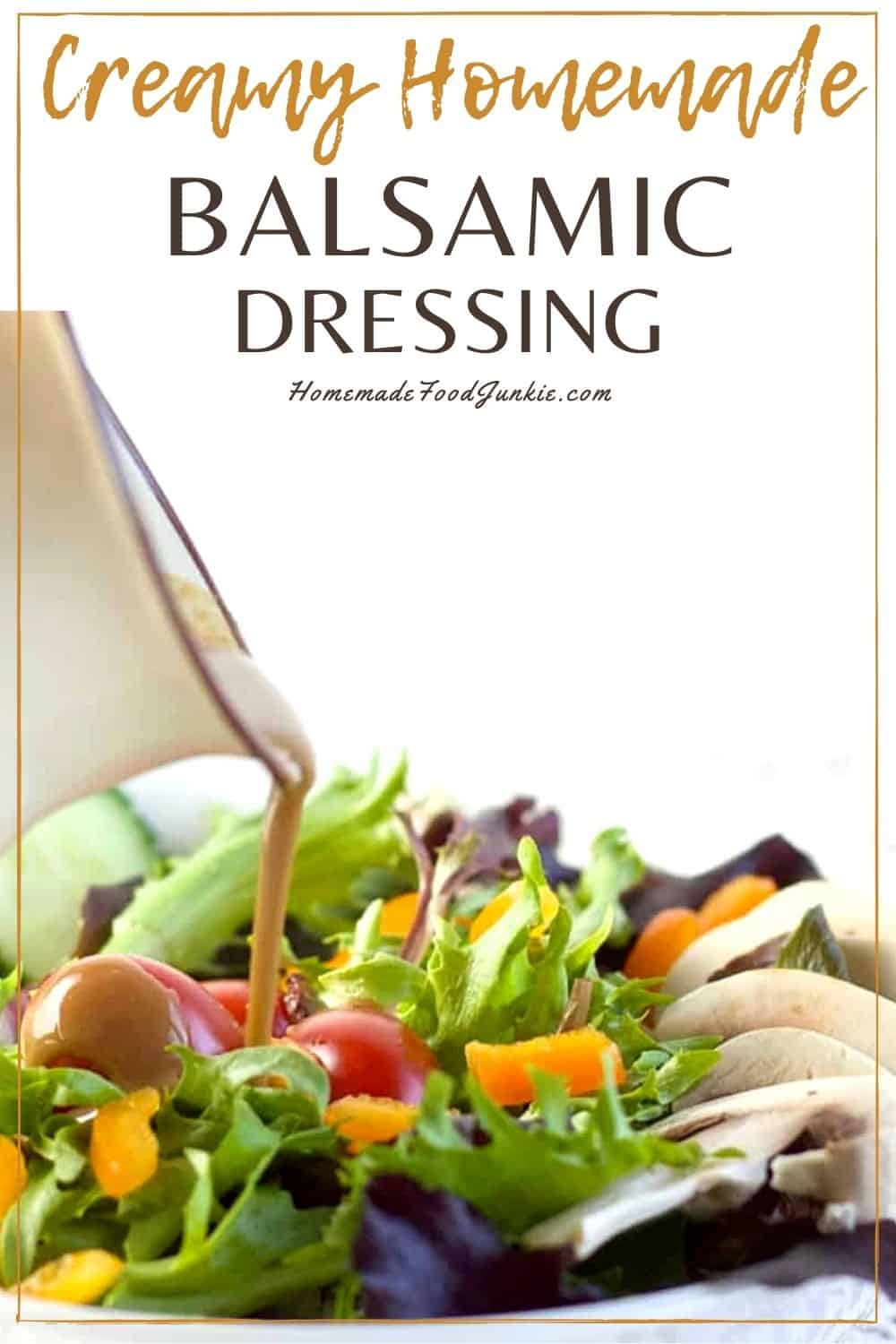 Creamy homemade balsamic dressing-pin image