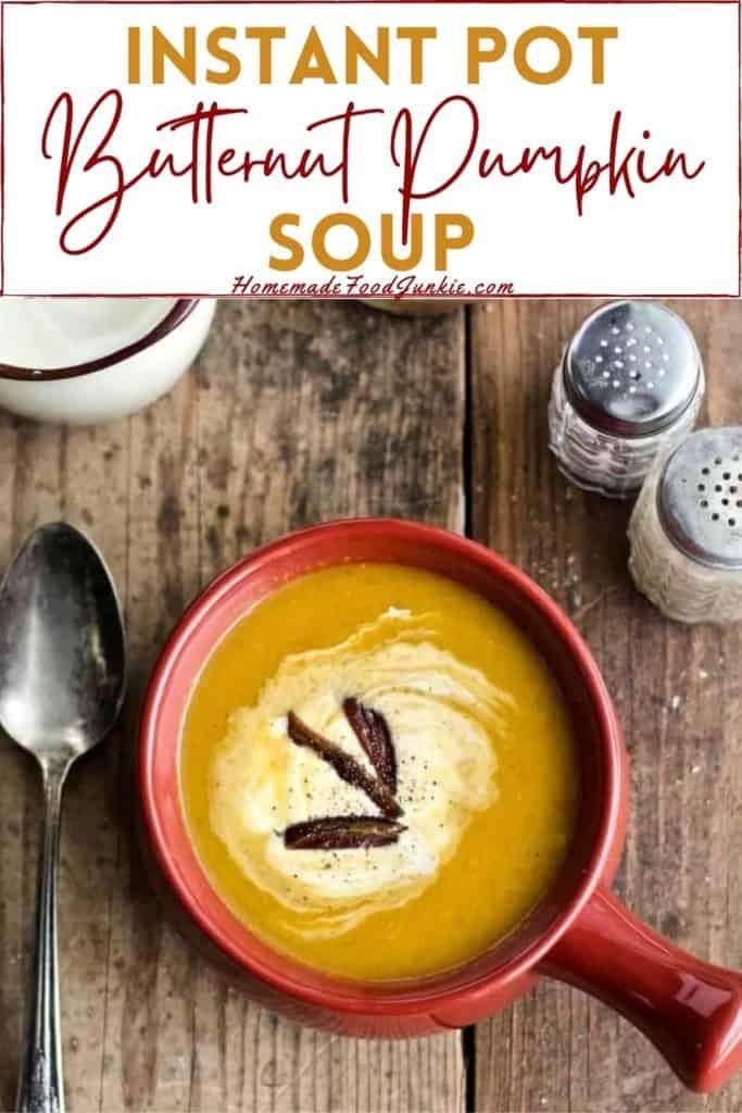 Instant Pot Butternut Pumpkin Soup-Pin Image