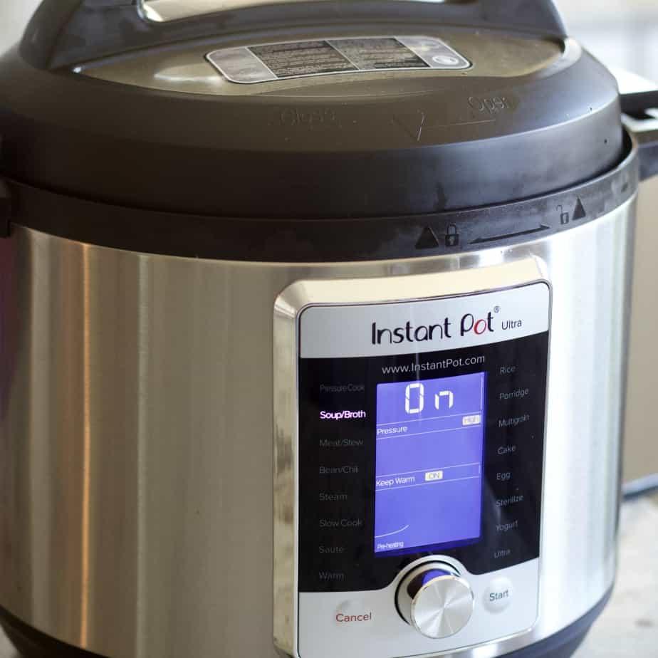 Instant pot lentil soup with soup setting