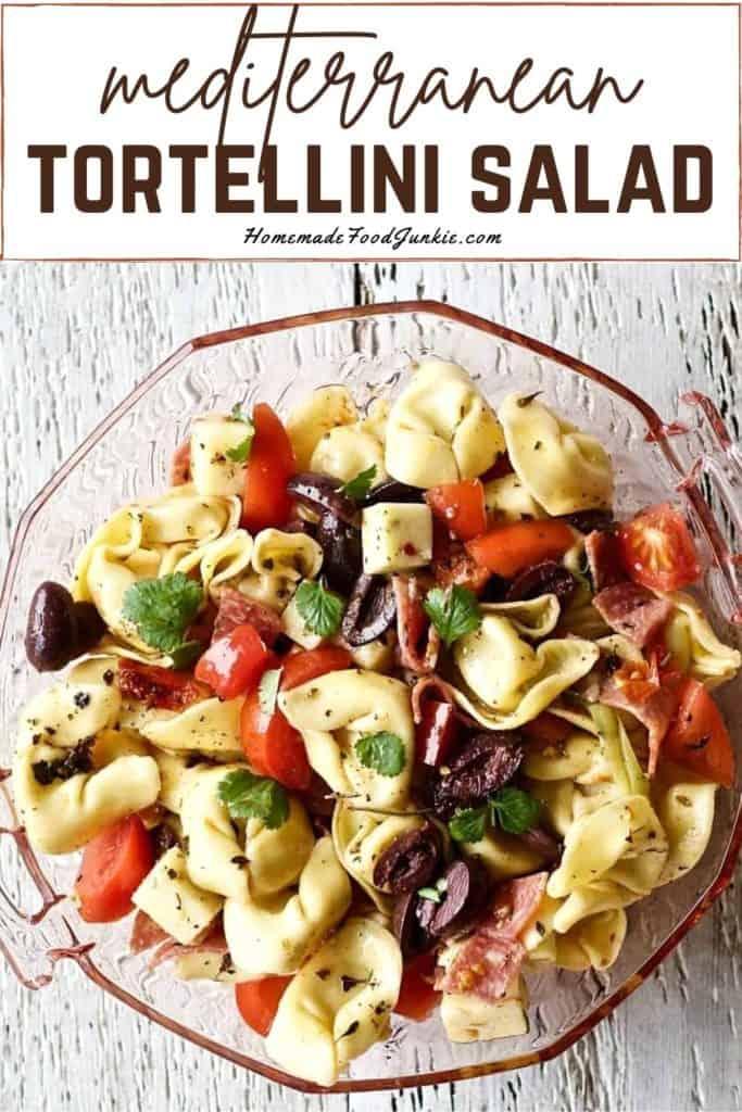 Mediterranean tortellini salad-pin image