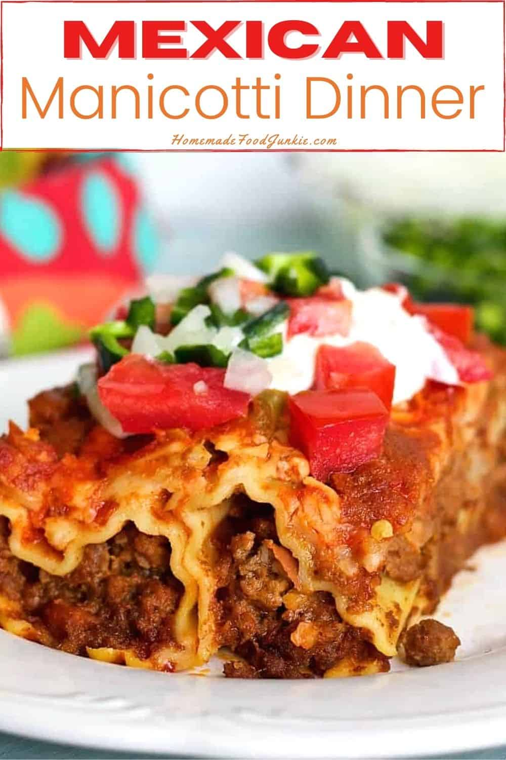 Mexican manicotti dinner-pin image