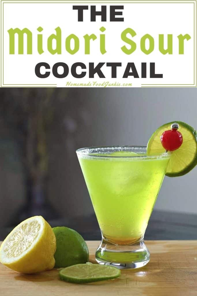 The Midori sour cocktail-pin image