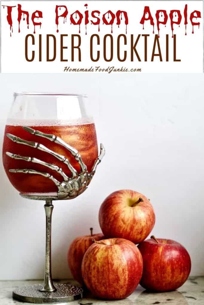 The Poison Apple Cider Cocktail-Pin Image