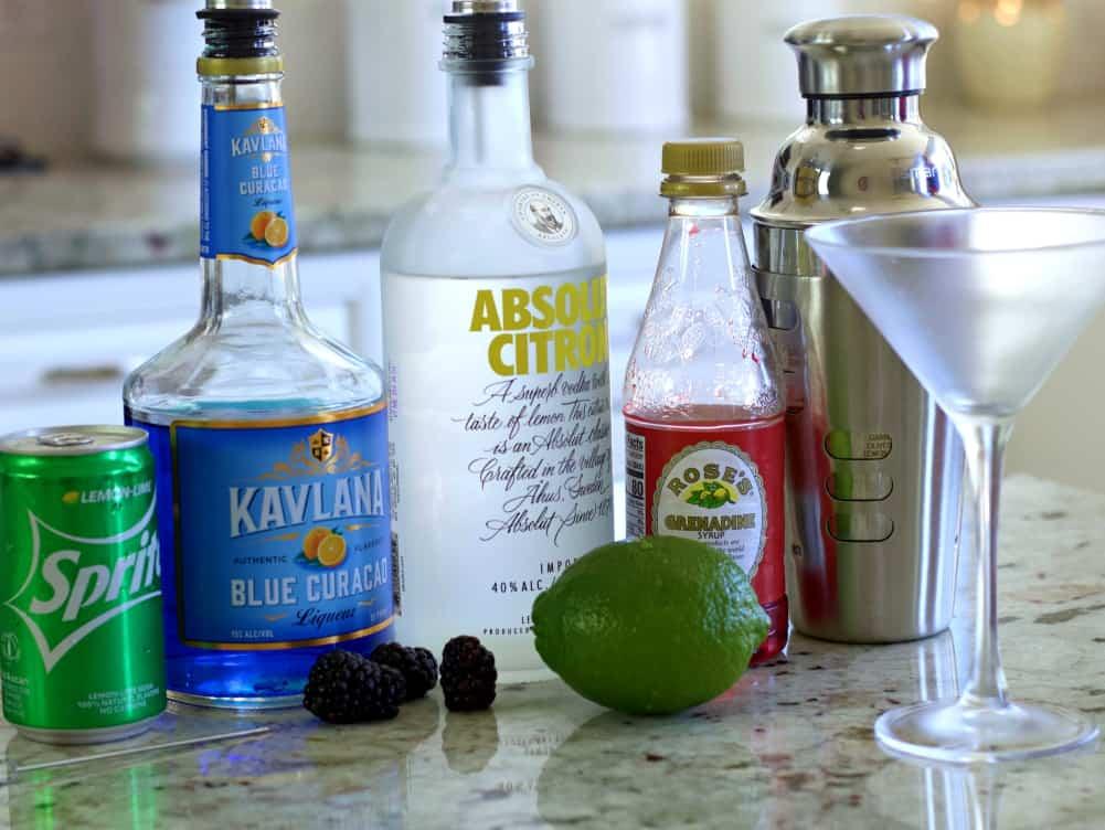 ingredients for purple rain drink