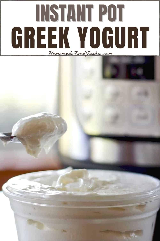 Instant pot greek yogurt-pin image