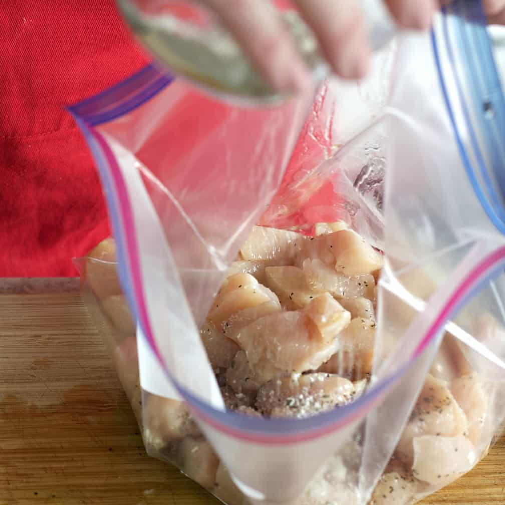 Chicken In A Gallon Plastic Bag