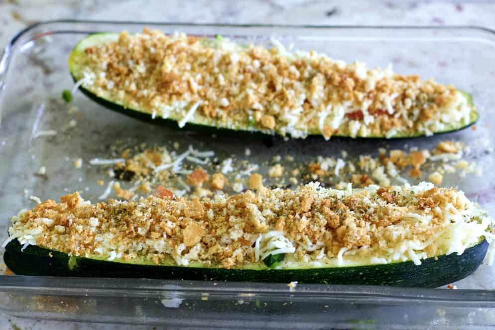 zucchini boats vegetarian recipe