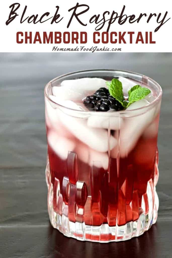 Black raspberry chambord cocktail-pin image
