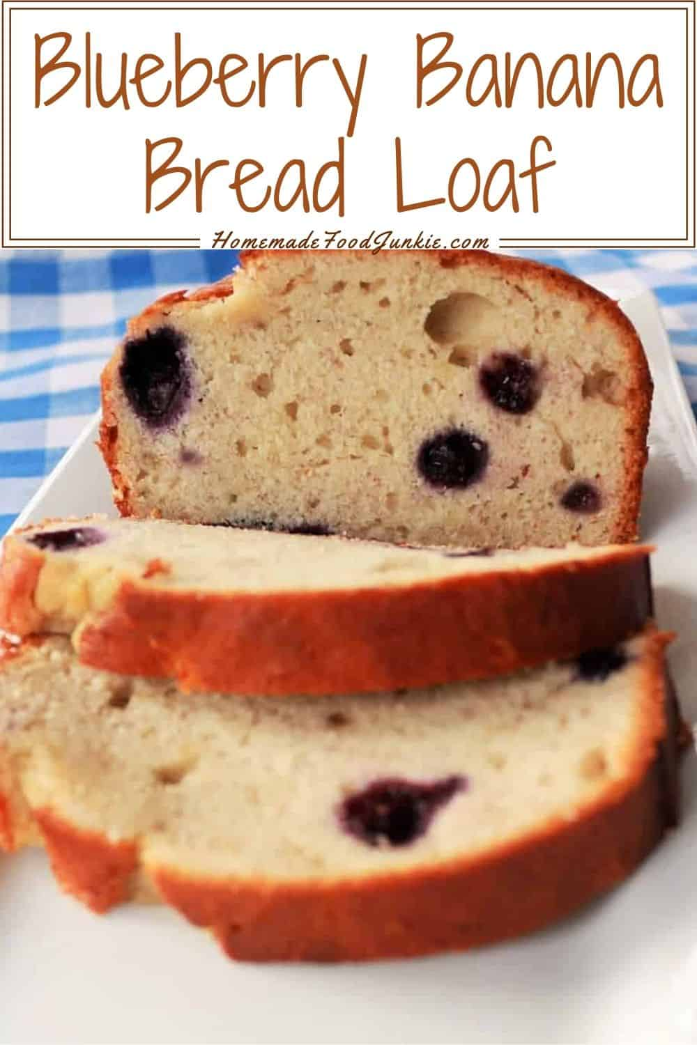 Blueberry banana bread loaf-pin image