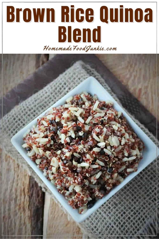 Brown rice quinoa blend-pin image