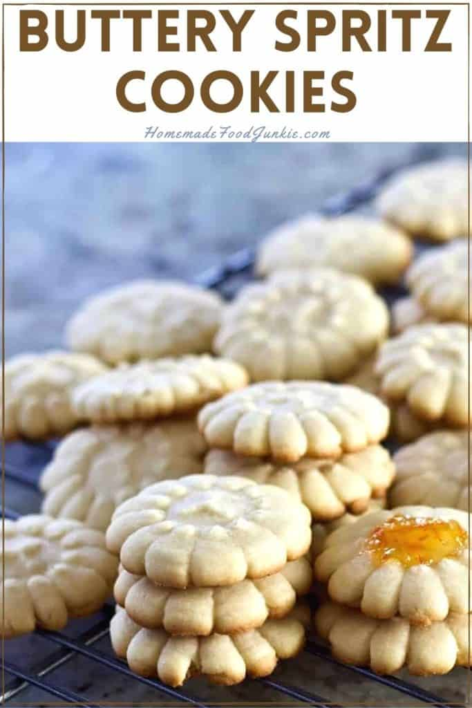 Buttery Spritz Cookies-pin image