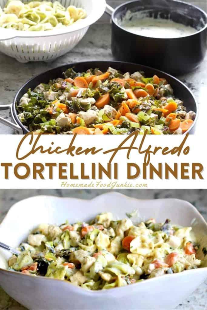 Chicken Alfredo Tortellini Dinner-Pin Image