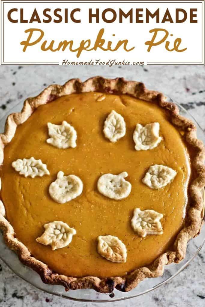 Classic homemade pumpkin pie-pin image