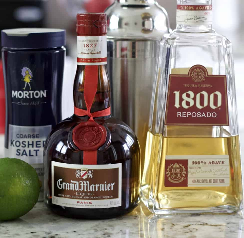 Ingredients for Cadillac Margarita