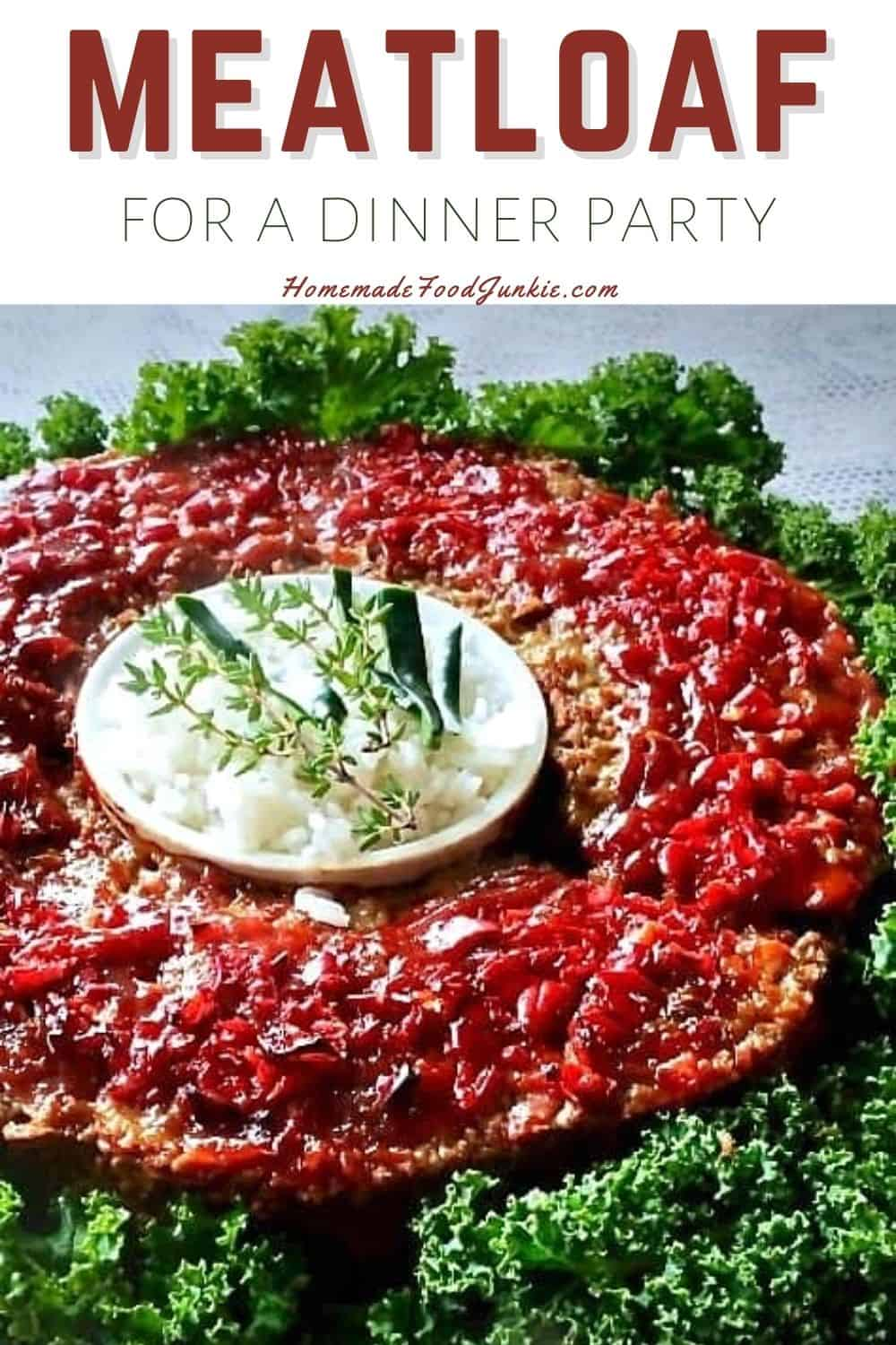 Meatloaf for a dinner party-pin image