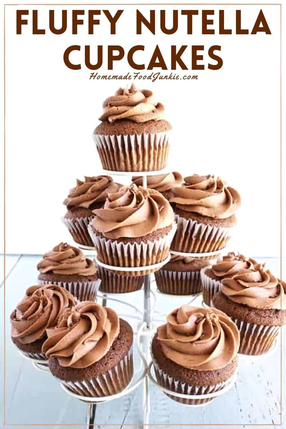 Fluffy nutella cupcakes-pin image