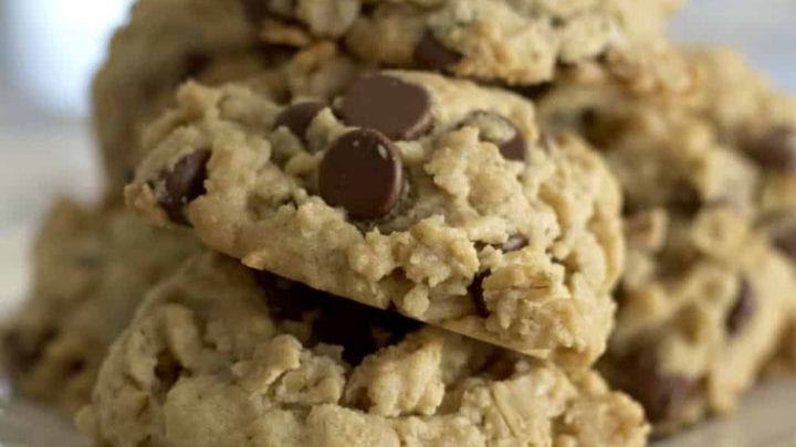 Oatmeal Peanut Butter Cookies On Plate