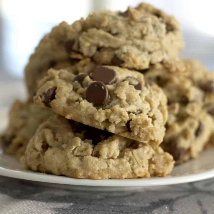 Panut Butter Chocolate Oatmeal Cookies