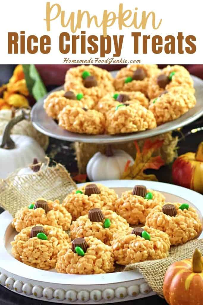 Pumpkin rice crispy treats-pin image