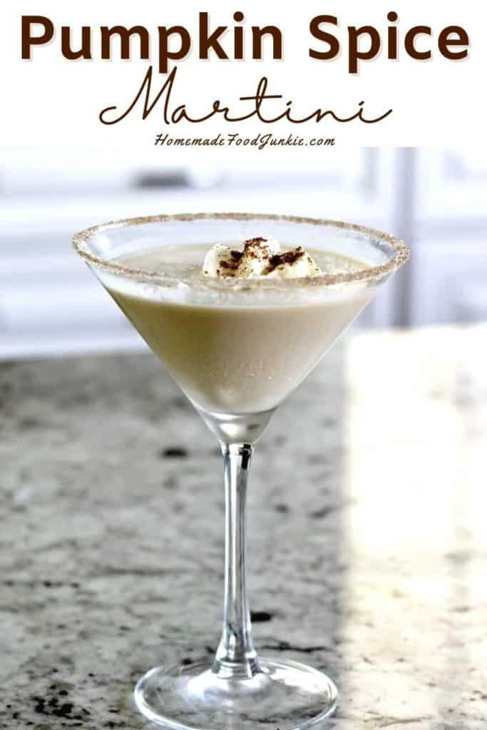 Pumpkin spice martini-pin image