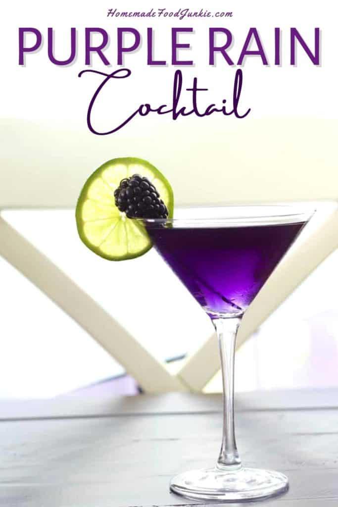 Purple rain cocktail-pin image