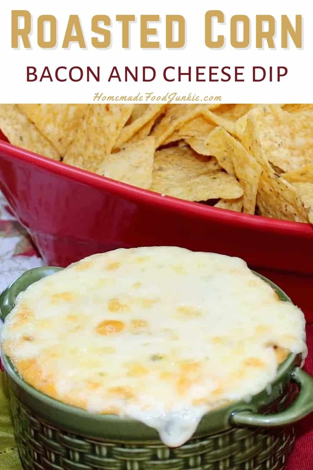 Roasted corn bacon and cheese dip-pin image