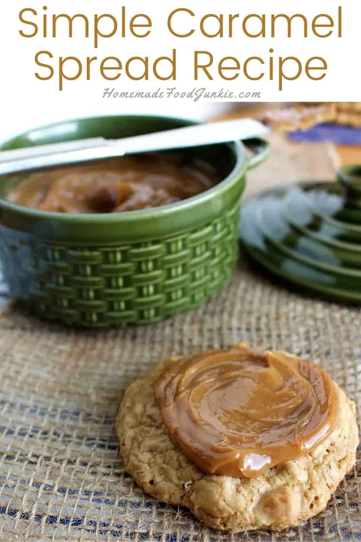 Simple Caramel Spread Recipe-Pin Image